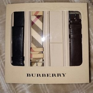 Burberry NIB 3 leather watch bands
